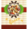 set for a menu with salad vector image vector image