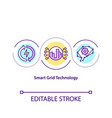 smart grid technology concept icon vector image