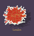 sticker color map of london united kingdom city vector image vector image