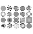 swirl silhouette spiral swirling spin swirls vector image
