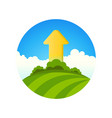 symbol of ecology growth vector image vector image