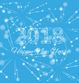 text design christmas and happy new year 2018 vector image vector image