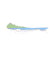 the lake is crystal clear vector image vector image