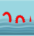 water monster with thorns eye tail swimming vector image