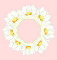 white indian lotus wreath vector image vector image