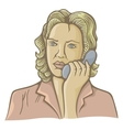 woman on phone vector image vector image