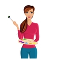 Woman painter portrait vector image vector image