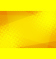 yellow halftone background vector image