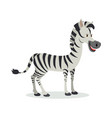 zebra cartoon icon in flat design vector image