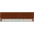 flat style piano icon vector image