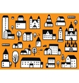 houses icons set vector image