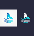 modern logo for sea fishing vector image