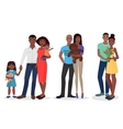 Black people family couple set Man and woman vector image
