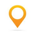 orange map pointer icon marker GPS location flag vector image