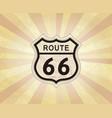 route 66 sign american road icon travel usa retro vector image