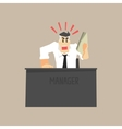 Angry Top Manager vector image vector image