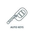 auto keys line icon auto keys outline vector image vector image