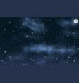 big high resolution night sky with stars moon vector image