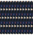 bottles red and white wine on dark blue vector image vector image