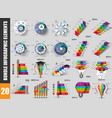 bundle infographic data visualization vector image vector image