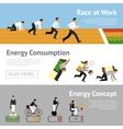 Businessman Energy Banner Set vector image