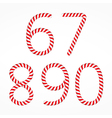 Candy Canes Numbers vector image