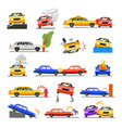 car crash set vector image