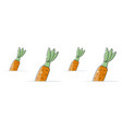 carrot background cartoon style vector image vector image