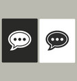 chatting - icon vector image