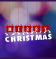 christmas greetings card with dark background red vector image vector image