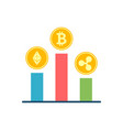 crypto currency stock flat related icon vector image vector image
