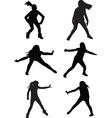 dance street vector image vector image