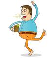 drunk man vector image