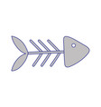 fishbone food icon on white background cartoon vector image