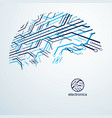 futuristic cybernetic scheme motherboard digital vector image vector image