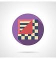 Geometric linoleum round flat icon vector image vector image