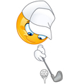 golf emoticon vector image vector image