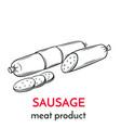 hand drawn sausage icon vector image vector image