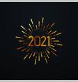 happy 2021 new year vector image vector image