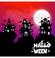 happy halloween design element with typography vector image