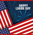 happy labor day united states of america flag with vector image