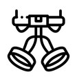harness alpinism hooking device tool icon vector image vector image