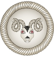 Head of the ram Zodiac signs aries Eyes - red