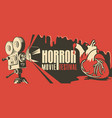 horror movie festival scary cinema poster vector image vector image