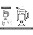 Hot wine line icon vector image vector image