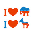 I love democrat I like Republican Symbol of heart vector image vector image