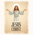 jesus christ religious image vintage vector image vector image