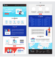 Laundry Service Web Page Set vector image vector image
