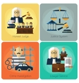 Legal services law and order justice flat vector image vector image