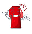 listening music cartoon the number one for vector image vector image
